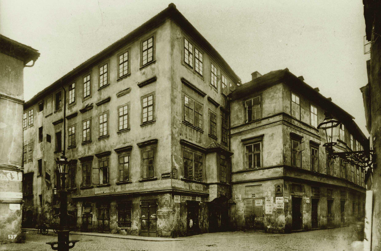 The Golden Face house, Hermann Kafka's residence