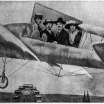 Vídeň, Prátr, 1913. Zleva Franz Kafka, Albert Ehrenstein, Otto Pick, Lise Weltschová