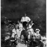 Sanatorium in Tatranské Matliare, Kafka in der ersten Reihe (1921)