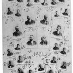 Fotos von der Reifeprüfung, 1901 (F.K. in der letzten Reihe, dritter von links)