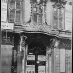 Das Geschäft der Familie Kafka im ersten Stock, im Jahr 1906 (Celetná Strasse 12)